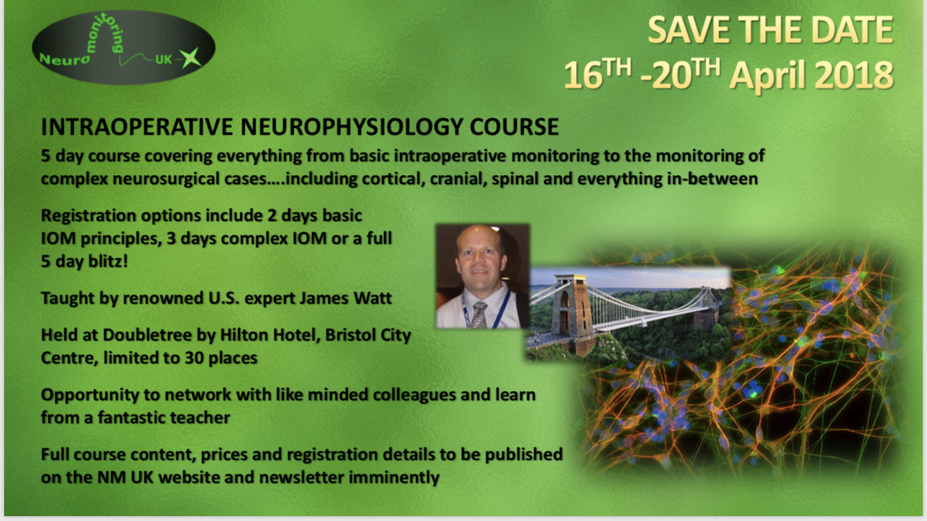 UPDATE! Neuromonitoring Training Course
